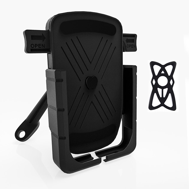 Black Bracket Holder Unlock in One Second Aluminum Alloy Motorcycle Phone Bracket Multiple Phone Protection Model Without Charger