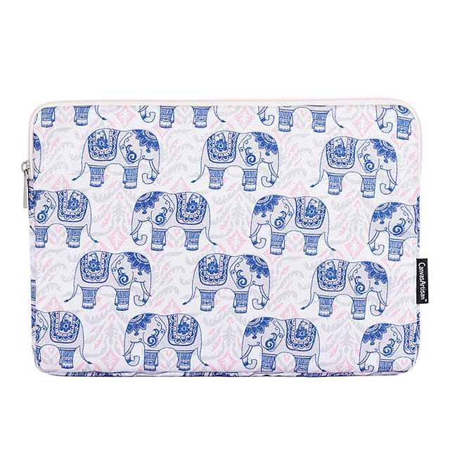 11.6 12 13.3 14.1 15.6 inch Universal Elephant Print Water-resistant Shock Proof Laptop Sleeve Case Bag for Macbook/Surface/Xiaomi/HP/Dell/Samsung/Sony Etc