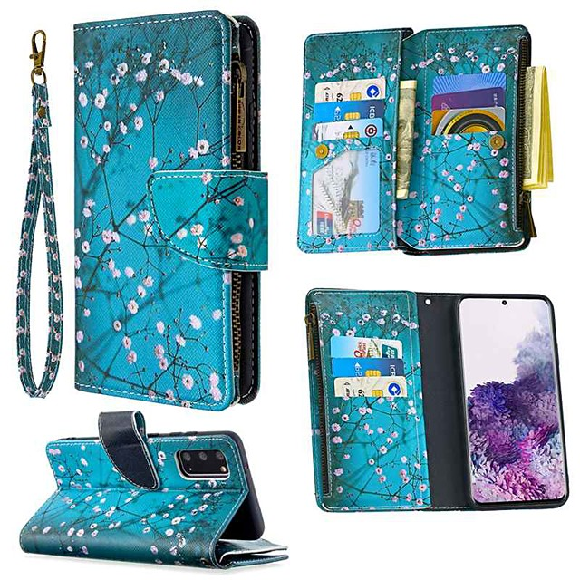 Case For Samsung Galaxy S20 Ultra S10E S9 Plus Wallet / Card Holder / with Stand Full Body Cases Flower PU Leather For Galaxy A10E A20E A10 A20 A30 A40 A50 A70