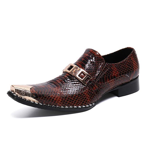 Men's Summer Daily Loafers & Slip-Ons Cowhide Brown