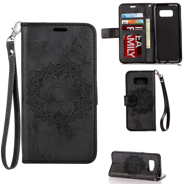 Case for Samgung Galaxy S7 8 9 10 20 8plus 9plus 10 plus Flip Magnetic Full Body Cases Flower PU Leather