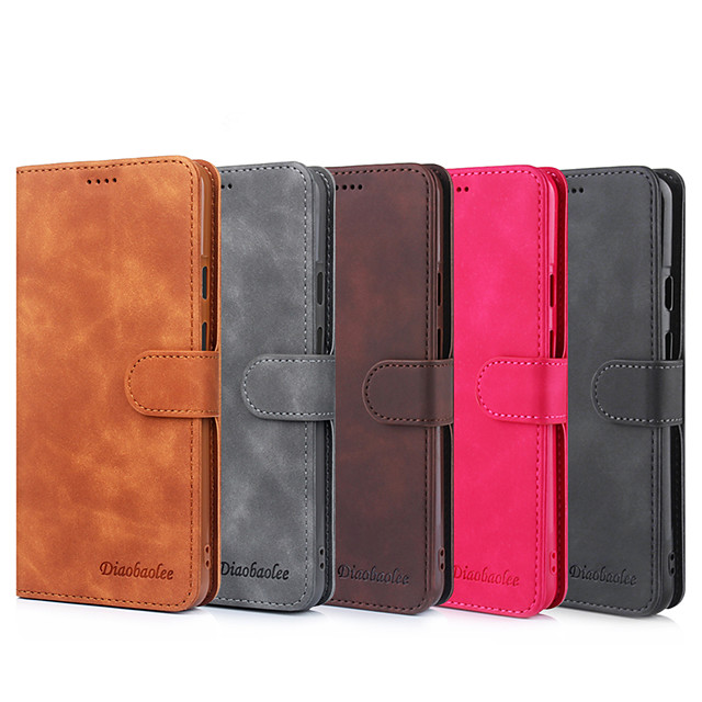 Case For Google Google Pixel 3a XL Google Pixel 3a Card Holder Flip Full Body Cases Solid Colored PU Leather