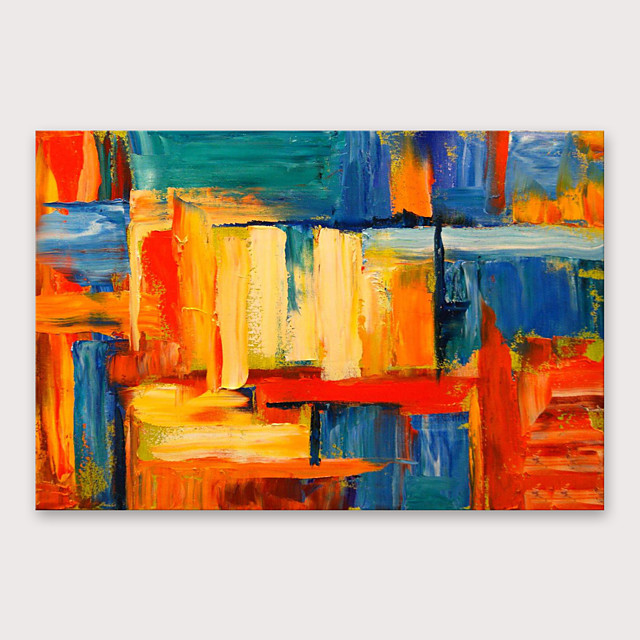 IARTS Hand Painted block Oil Painting with Stretched Frame For Home Decoration With Stretched Frame