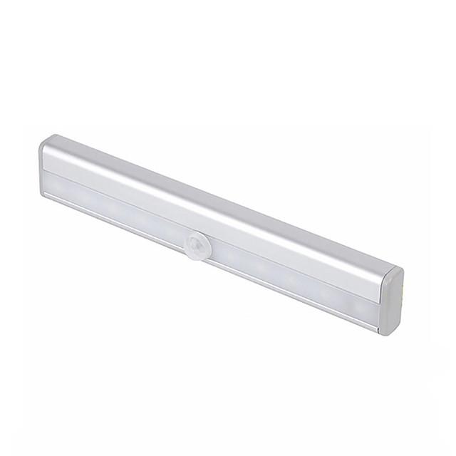 1 set 1 W 80 lm 10 LED Beads Easy Install Dusk to Dawn LED PIR Built-in Infrared Sensor and Light Sensor Rigid LED Light Bars LED Cabinet Lights Under Cabinet Lighting Emergency Light Cold White Warm