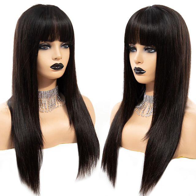 Synthetic Wig kinky Straight with Baby Hair Wig Very Long Natural Black Synthetic Hair 68~72 inch Women's Synthetic Black