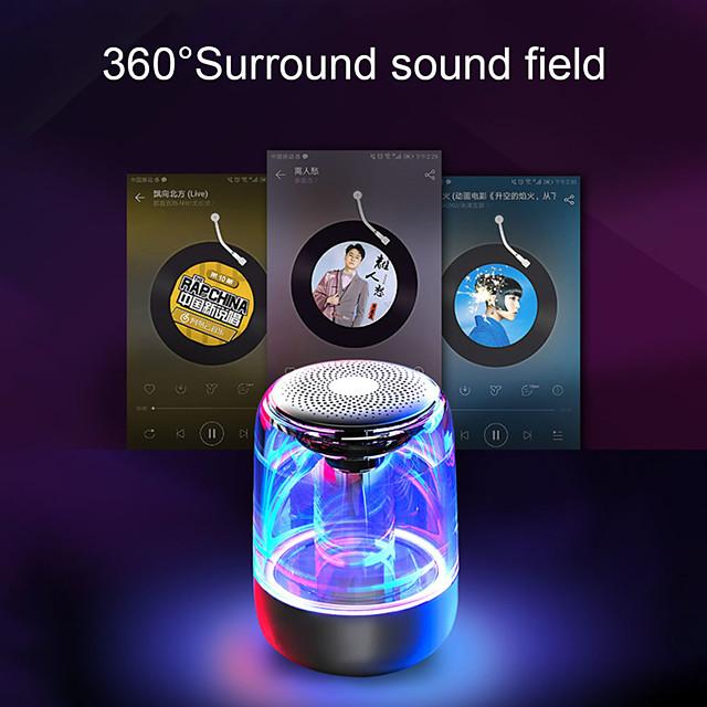 C7 Transparent crystal Bluetooth Speaker Colorful Atmosphere Light Bluetooth Speaker Portable Music Audio Stereo Sound Speaker