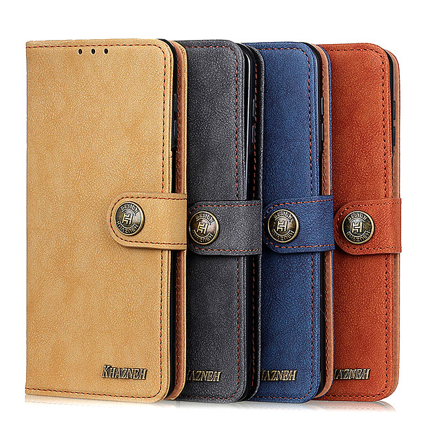 Case For  LG LG K10 2018 K30 K8 2018 K9 K40 K50 K30 2019 K40S K50S K20 2019 K41S K51S K61 K51 Card Holder Flip Magnetic Full Body Cases Solid Colored PU Leather TPU retro stitch