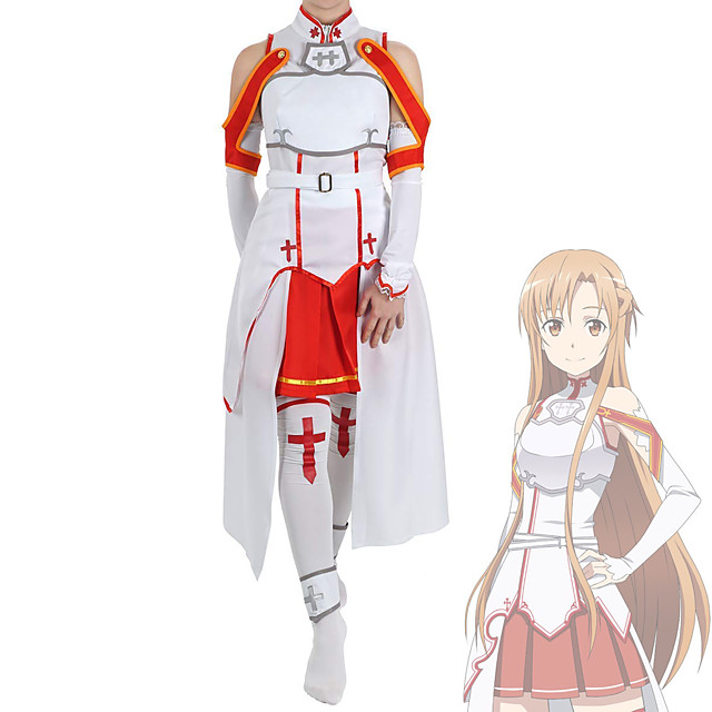 Inspired by SAO Swords Art Online Asuna Yuuki Anime Cosplay Costumes Japanese Cosplay Suits Costume For Women's