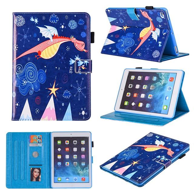 Case For Apple iPad Mini 3 2 1  iPad Mini 4  iPad Mini 5 360 Rotation  Shockproof  Magnetic Full Body Cases Animal  Cartoon  Flower PU Leather  TPU