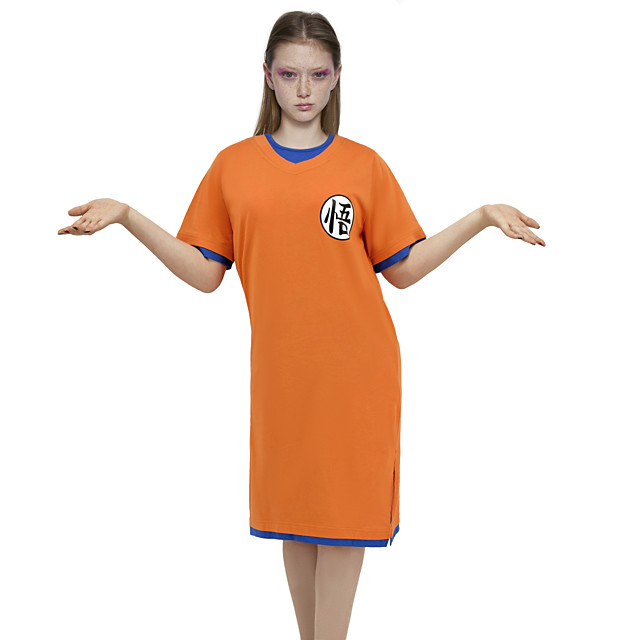 Inspired by Dragon Ball Son Goku Anime Cosplay Costumes Japanese Sleepwear Costume For Women's