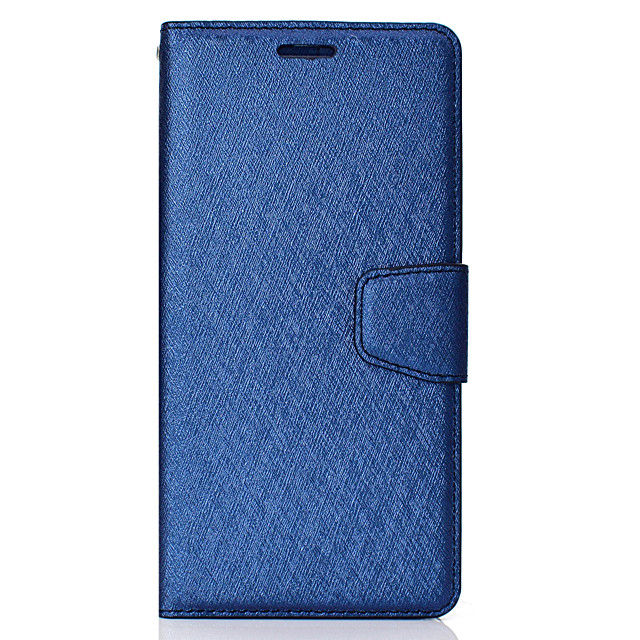 Case For LG LG V30 Card Holder Flip Magnetic Full Body Cases Solid Colored PU Leather textured