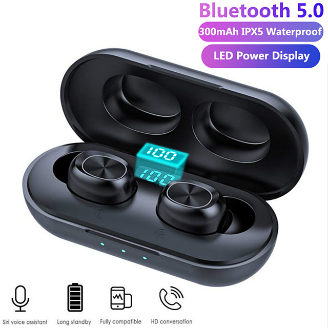 B5 TWS Wireless Earbuds Bluetooth Earphones 3D Streo Sound with LED Power Display Case IPX5 Waterproof Charging Box