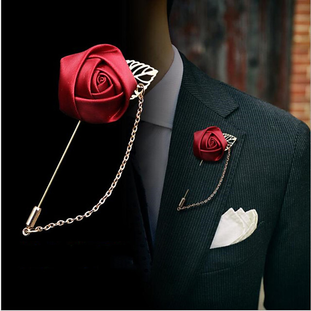Alloy Brooches & Pins with Solid 1 Piece Wedding / Daily Wear Headpiece