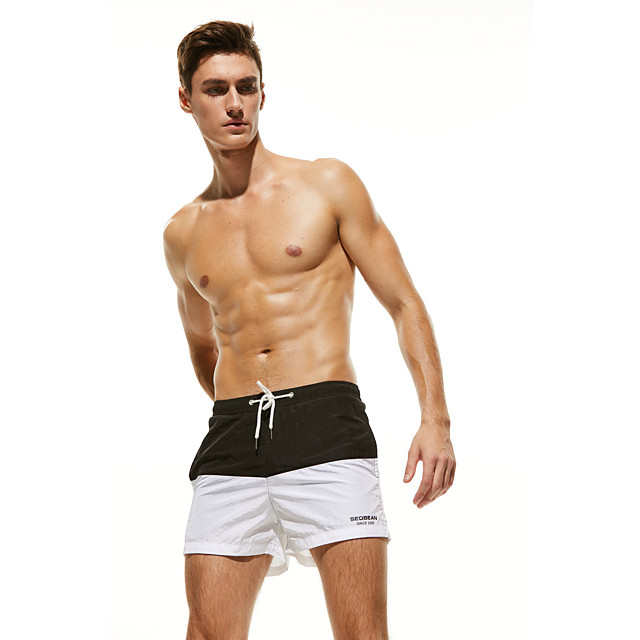 Men's Swim Shorts Bottoms Breathable Quick Dry Swimming Surfing Water Sports Patchwork Summer