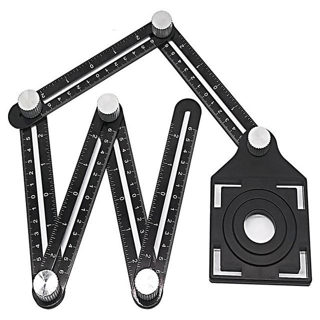 Aluminium Alloy Six Folding Ruler Tile Hole Locator Masonry Paving Tiles Glass WANXIANG Universal Punched Useful Product