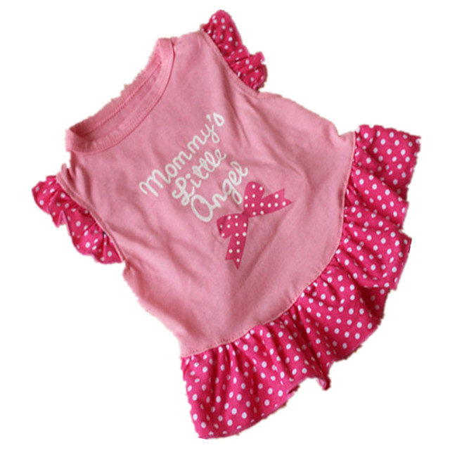 Dog Cat Costume Dress Bowknot Princess Sweet Cute Party Casual / Daily Dog Clothes Breathable Purple Fuchsia Pink Costume Cotton XS S M L