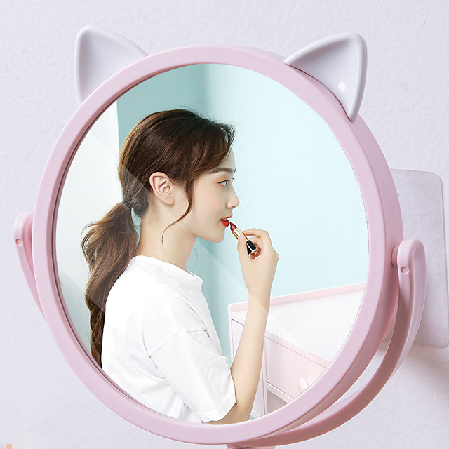 Bathroom Mirror Makeup Wall Mounted Punch Free Adjustable Cosmetic Mirror Wall Mirrors Touch Dimming Mirrors