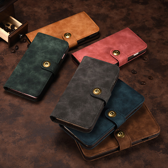 Case For Sony Sony Xperia XZ Card Holder Shockproof Flip Full Body Cases Solid Colored PU Leathermagnetic split