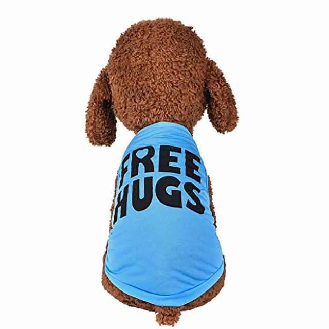 dog clothes for small dogs boy yorkies girl chihuahua summer fall - puppy cat shirt freehugs vest tank tops - pet schnauzer female male clothing