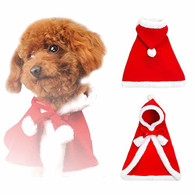 christmas cloak coat for dogs and cats christmas dress up for dogs and small animals