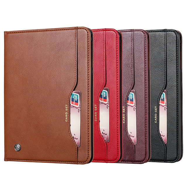 Case For Samsung Tab A 8.0(2019)T290 T295 Tab A 8.0 2019 SM-P200 P205 Card Tab A 8.4 (2020) Holder Shockproof Magnetic Full Body Cases Solid Colored PU Leather  TPU
