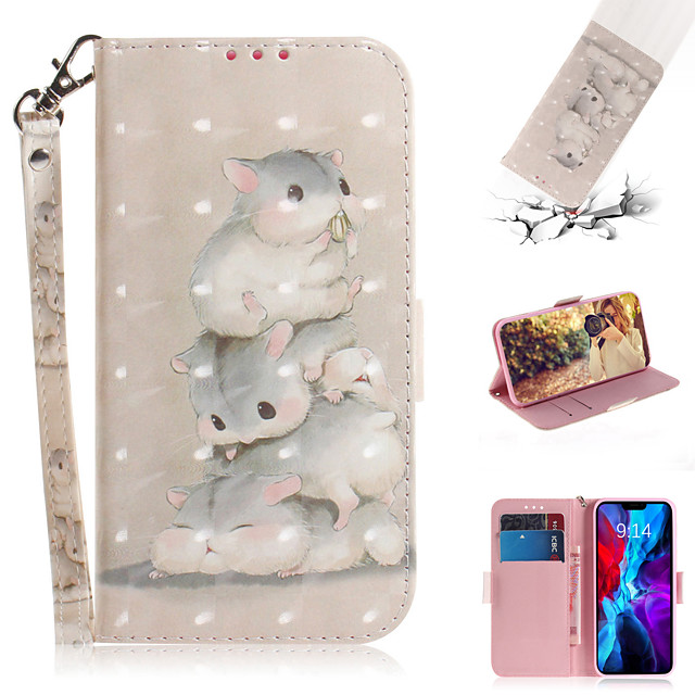 Case For Apple iPhone 11  iPhone 11 Pro  iPhone 11 Pro Max Card Holder  Flip Pattern Full Body Cases Animal  Flower PU Leather