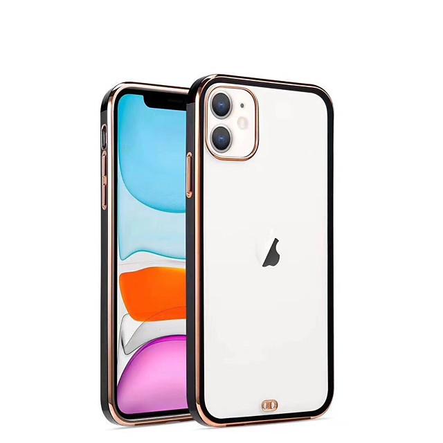 Case For iPhone 7 8 7 Plus 8 Plus X XS XR XS Max SE 11 11 Pro 11 Pro Max Transparent Back Cover Transparent Solid Colored TPU