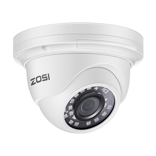 ZOSI PoE IP Camera 5MP HD Outdoor/Indoor Waterproof Infrared 85FT Night Vision Security Video Surveillance