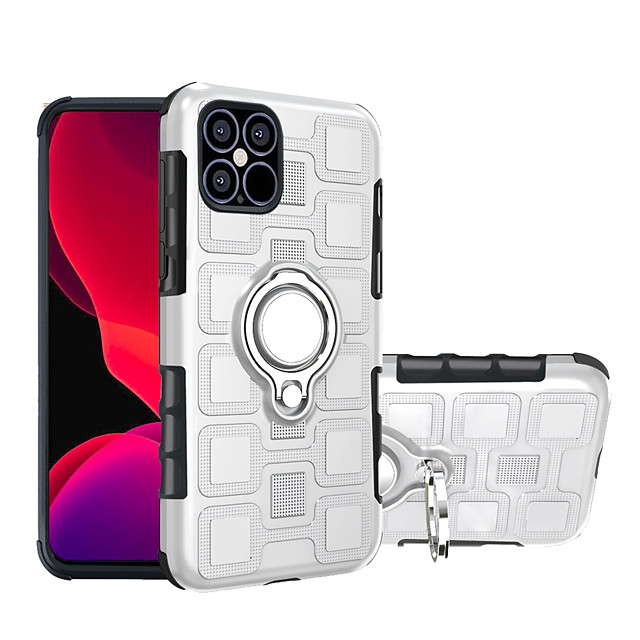 Case For iPhone 11 11 Pro 11 Pro Max Shockproof Ring Holder Back Cover Solid Colored TPU