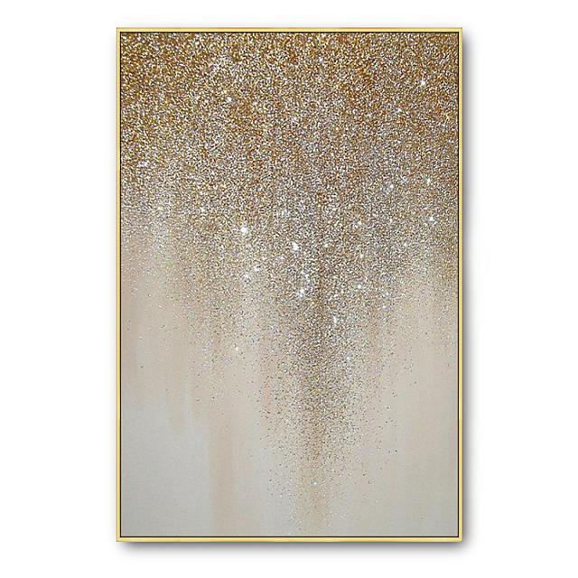 Oil Painting Handmade Hand Painted Wall Art Gold Silver Home Decoration Décor Rolled Canvas No Frame Unstretched