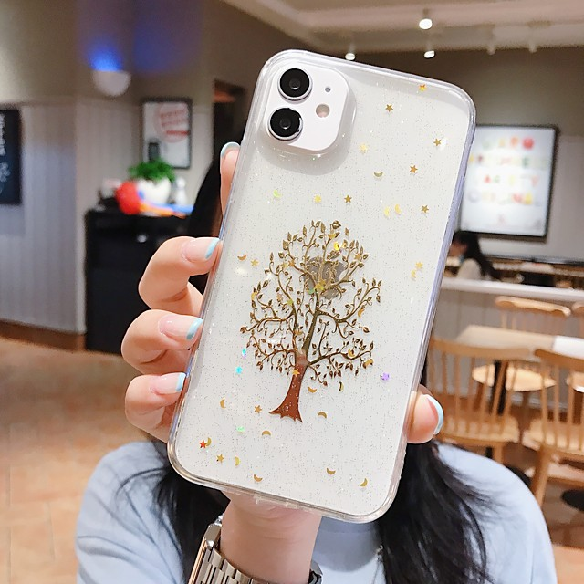 Case For  iPhone 7 8 7plus 8plus X XR XS XSMax SE(2020) iPhone 11 11Pro 11ProMax Shockproof Ultra-thin Pattern Back Cover Transparent Tree TPU