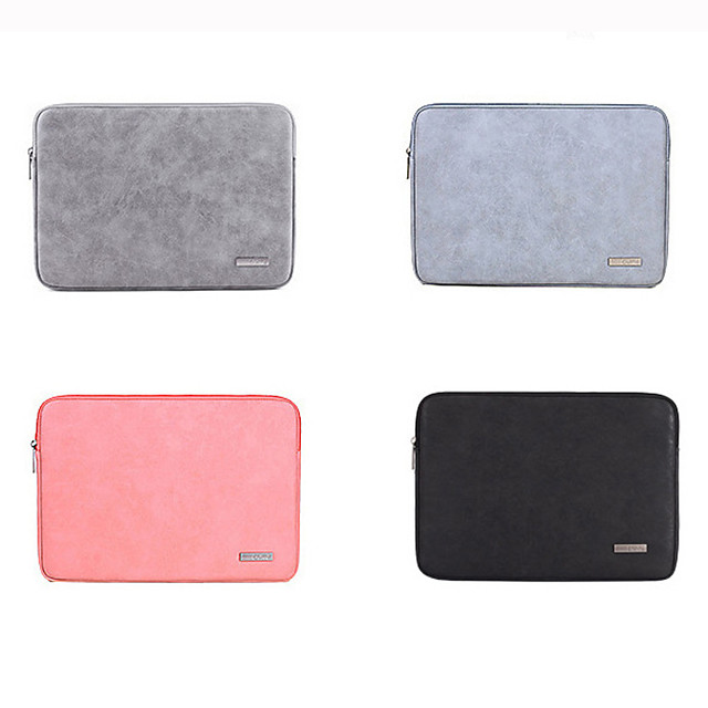 11.6 Inch Laptop / 13.3 Inch Laptop / 14 Inch Laptop Sleeve PU Leather / Polyurethane Leather Solid Color / Novelty for Men for Women for Business Office Waterpoof Shock Proof