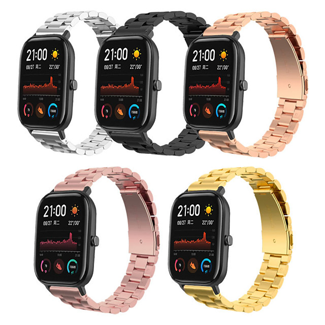 Watch Band for Amazfit GTS Amazfit Business Band Stainless Steel Wrist Strap