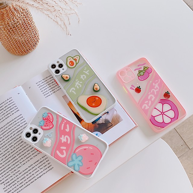 Case For Apple iPhone 7 7P iPhone 8 8P iPhone X iPhone XS XR XS max iPhone 11 11 Pro 11 Pro Max Pattern Back Cover Food Cartoon TPU