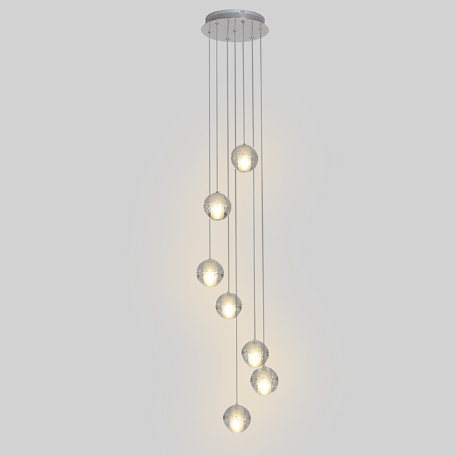 7 Light 10 4 Crystal Led Pendant Light Metal Cluster Chrome Modern Contemporary 90 240v 4259163 2020 252 28