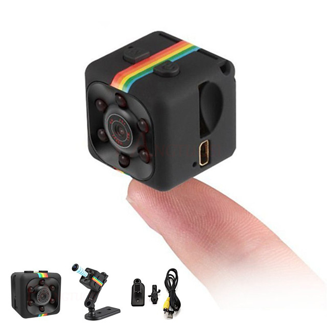 HD 1080P Mini Camera SQ11 Full 2.0 mp Camcorder Night Vision Sports DV Video Recorder Small Camera Infrared Night Vision Security Camera Support 32G TF Card for Home Car Office Indoor and Outdoor