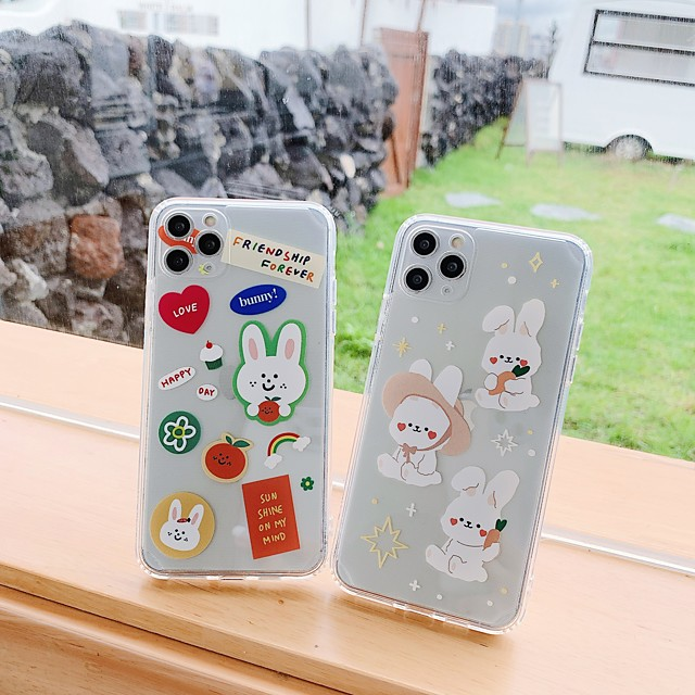 Case For Apple iPhone 7 7Plus iPhone 8 8Plus iPhone X iPhone XS XR XS max iPhone 11 11 Pro 11 Pro Max SE Pattern Back Cover Transparent Cartoon TPU
