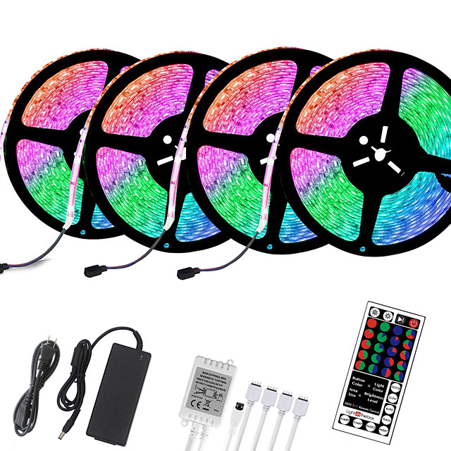 4x5M Flexible LED Light Strips Light Sets RGB Tiktok Lights 1200 LEDs 5050 SMD 2835 SMD 8mm 1 set Christmas New Year's Creative Cuttable Decorative 12 V Self-adhesive