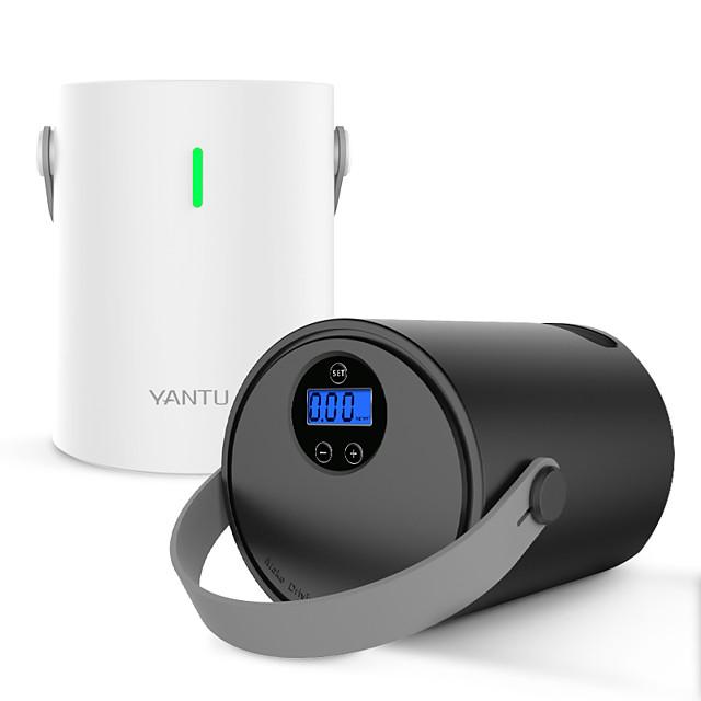 yantu a05 wirlessポータブルエアコンプレッサーポンプミニカーエアポンプ12.6v dc自動デジタルディスプレイコード付きタイヤインフレーター