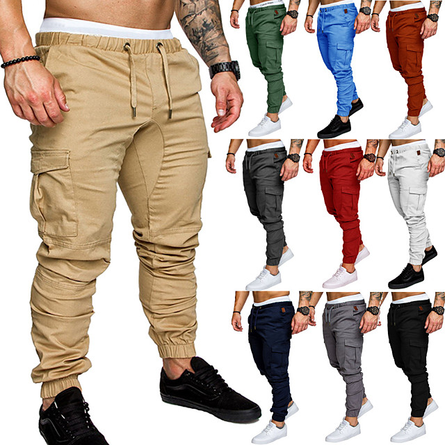 Men's Joggers Jogger Pants Track Pants Outdoor Sweatpants Athleisure Wear Bottoms Beam Foot Drawstring Fitness Gym Workout Performance Jogging Training Breathable Anatomic Design Wearable Plus Size