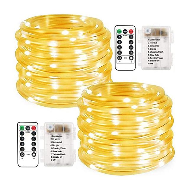 Waterproof LED Fairy Rope Tube Light String Lights For Xmas Garden Decor 5M//10M