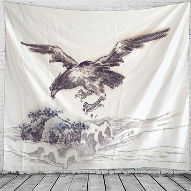 Chinese Painting Sea Eagle Tapestry Wall Hanging Tapestries Wall Blanket Wall Art Wall Decor Landscape Painting Tapestry Wall Decor