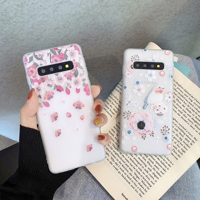 Case For Samsung Galaxy S8 S8Plus S9 S9Plus A10 A20 A30 A40 A50 A60 A70 A80 A90 Ultra-thin Transparent Pattern Back Cover Animal Flower TPU
