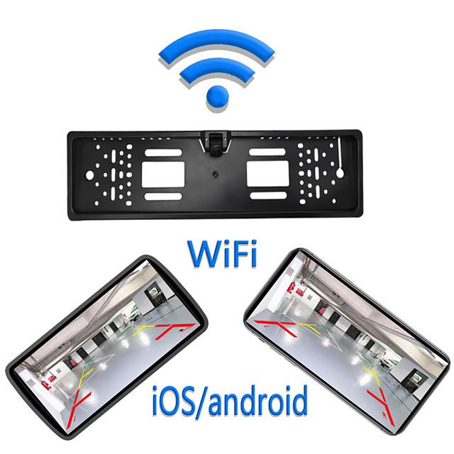 eu wifi kennzeichen rahmen kamera 1280 x 720 kabellos 180 grad auto rückfahrmonitor wasserdicht nachtsicht fahrzeug rückfahrkamera kabellos für ios und android 12v 24v parkassistent
