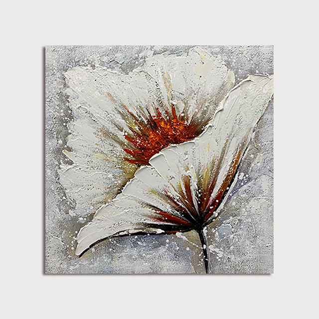 Oil Painting Paint Handmade Abstract Flower Canvas Art Modern Art with Stretcher Ready to Hang With Stretched Frame