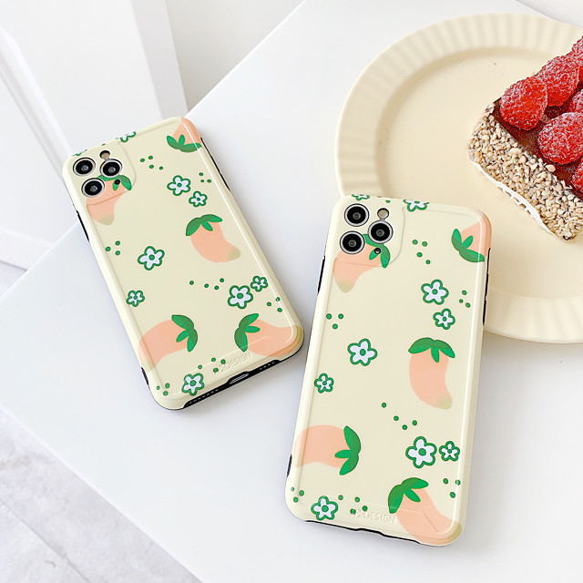 Case For Apple iPhone 7 7Plus iPhone 8 8Plus iPhone X iPhone XS XR XS max iPhone 11 11 Pro 11 Pro Max Pattern Back Cover Food TPU