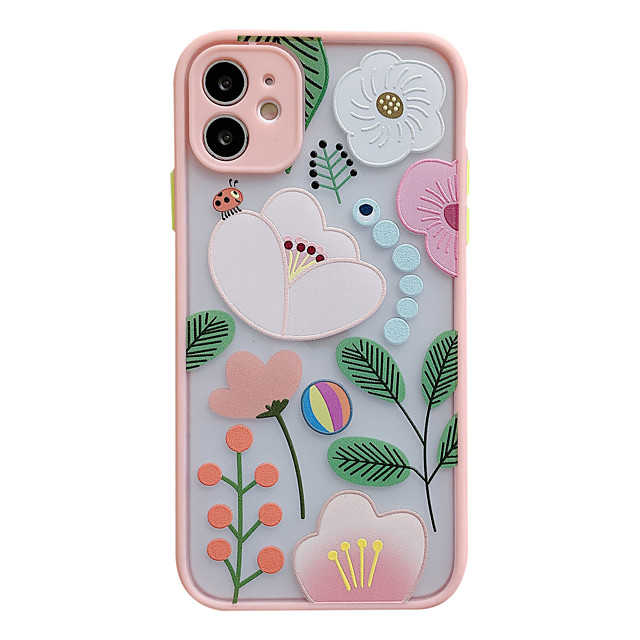 Case For iPhone 7 8 7 Plus 8 Plus X XS XR XS Max SE 11 11 Pro 11 Pro Max Pattern Back Cover Cartoon Tree Flower TPU