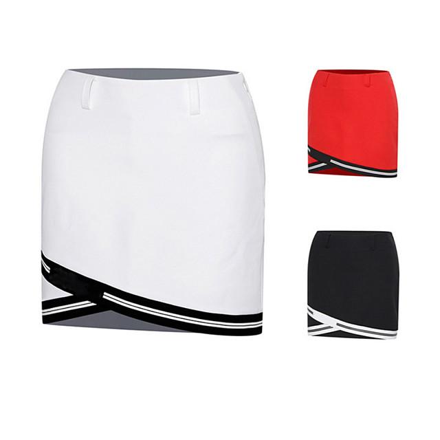 Women's Tennis Golf Skirt Skort Breathable Fast Dry Wearable Sports & Outdoor Athleisure Summer Solid Colored White Black Red
