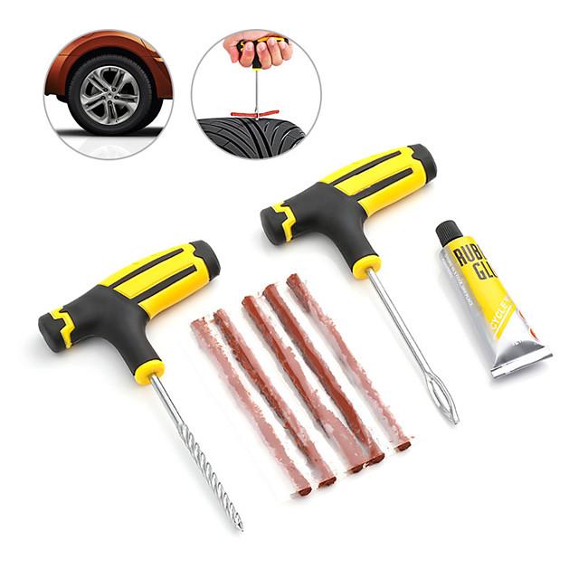 Auto Car Tire Repair Kit Car Bike Auto Motorcycle Tubeless Tire Tyre Puncture Plug Repair Needle Tool Kit Car Accessories