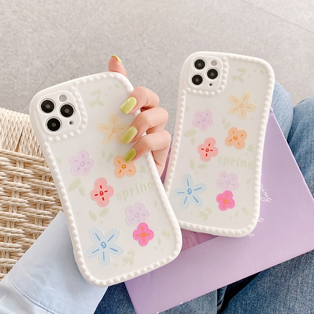Case For Apple iPhone 7 8 plus SE 2020 X XS XR XS max  11 11 Pro 11 Pro Max Pattern Back Cover TPU cute LOVELY flower